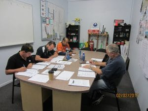 Students taking a course at DUT in Mackay