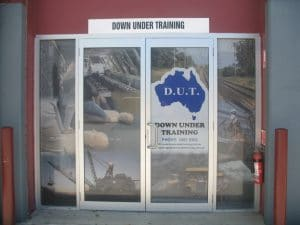 The front entrance of down under training in Mackay